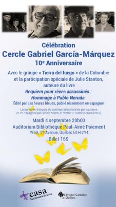 Julie Stanton invitée du cercle Gabriel Garcia-Marquez